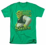 Shrek Shirt Looking Good Adult Kelly Green Tee T-Shirt