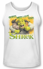Shrek Tank Top Ogres Need Love White Tanktop