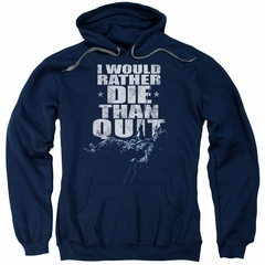 Six A&E TV Show Hoodie No Quitting Navy Blue Sweatshirt Hoody