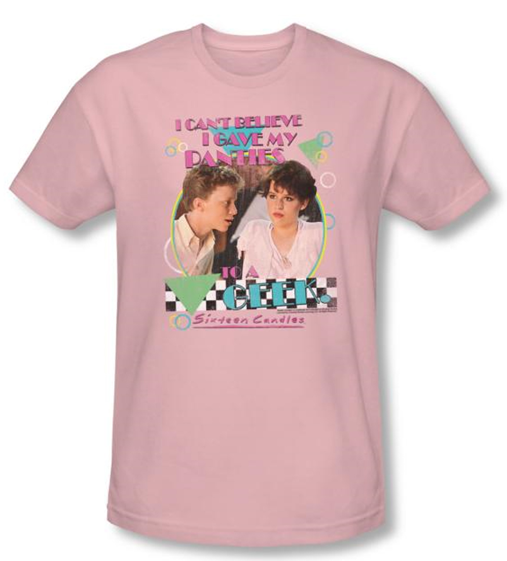 Sixteen candles t shirt movie panties adult pink slim fit for T shirt and panties