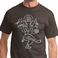 Sketch Ganesha White Print Mens Shirts