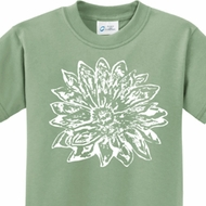 Sketch Lotus Kids Yoga Shirts