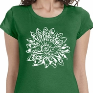 Sketch Lotus Ladies Yoga Shirts