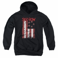 Skid Row Kids Hoodie Flagged Black Youth Hoody