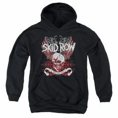 Skid Row Kids Hoodie Winged Skull Black Youth Hoody