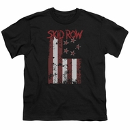 Skid Row Kids Shirt Flagged Black T-Shirt