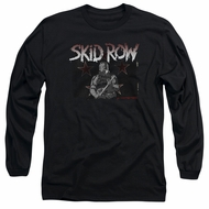 Skid Row Long Sleeve Shirt Unite World Rebellion Black Tee T-Shirt