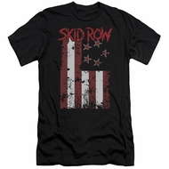 Skid Row Slim Fit Shirt Flagged Black T-Shirt