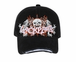 Skull 3D Hat with Rhinestones Lackpard Cotton Cap Black