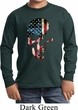 Skull Americana Kids Long Sleeve Shirt