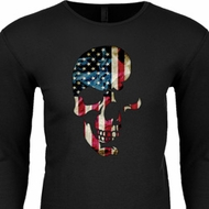 Skull Americana Long Sleeve Thermal Shirt