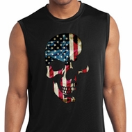 Skull Americana Mens Sleeveless Moisture Wicking Shirt