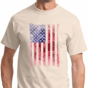 Skull in American Flag Mens Shirts