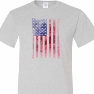 Skull in American Flag Mens Tall Shirt