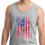 Skull in American Flag Mens Tank Top