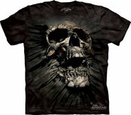 Skull Shirt Breakthrough Tie Dye T-shirt Adult Black Tee