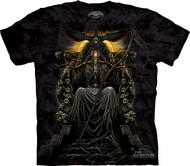 Skull Shirt Tie Dye Skullbone Death Throne T-shirt Adult Tee