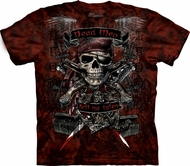 Skull Shirt Tie Dye T-shirt Pirate Dead Men Adult Tee