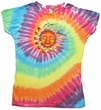 Sleeping Sun Juniors Yoga Shirt - Tye Dye Pastel Colors