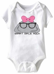 Smart Girls Rock Funny Baby Romper White Infant Babies Creeper