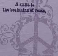 Smile Peace Juniors Yoga Shirt