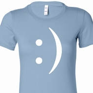 Smiley Chat Face Ladies Funny Shirts