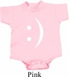 Smiley Chat Face Small Print Baby Onesie