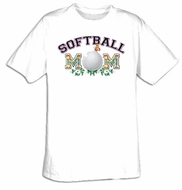 Softball Mom Sport Adult T-shirt Tee Shirt