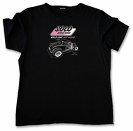 Solo Speed Shop T-Shirt -'32 Ford Girls Love Hot Rods Ladies Black Tee