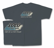 Solo Speed Shop T-Shirt - Distressed Logo Classic Charcoal Tee Shirt