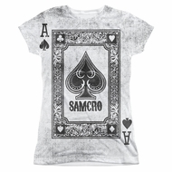 Sons Of Anarchy SOA Ace Of Spades Sublimation Juniors Shirt