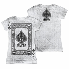 Sons Of Anarchy SOA Ace Of Spades Sublimation Juniors Shirt Front/Back Print