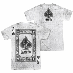 Sons Of Anarchy SOA Ace Of Spades Sublimation Shirt Front/Back Print
