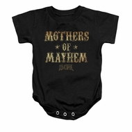 Sons Of Anarchy SOA Baby Romper Mothers Of Mayhem Black Infant Babies Creeper