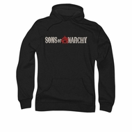 Sons Of Anarchy SOA Hoodie Distressed Logo Black Sweatshirt Hoody