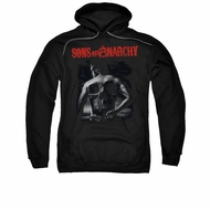 Sons Of Anarchy SOA Hoodie Sweatshirt Skull Back Black Adult Hoody Sweat Shirt