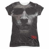 Sons Of Anarchy SOA Jax Skull Sublimation Juniors Shirt