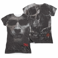 Sons Of Anarchy SOA Jax Skull Sublimation Juniors Shirt Front/Back Print