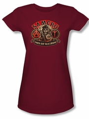 Sons Of Anarchy SOA Juniors Shirt Men Of Mayhem Cardinal Tee T-Shirt