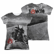 Sons Of Anarchy SOA Open Road Sublimation Juniors Shirt Front/Back Print