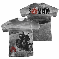 Sons Of Anarchy SOA Open Road Sublimation Shirt Front/Back Print