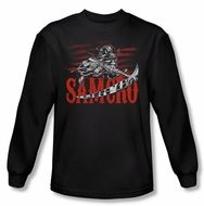 Sons Of Anarchy SOA Shirt Acronym Long Sleeve Black Tee T-Shirt