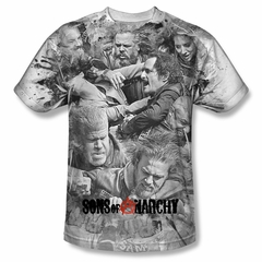 Sons Of Anarchy SOA Shirt Brawl Sublimation Shirt