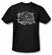 Sons Of Anarchy SOA Shirt Charming Ca Adult Black Tee T-Shirt