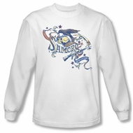 Sons Of Anarchy SOA Shirt Crow Eaters Long Sleeve White Tee T-Shirt