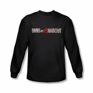 Sons Of Anarchy SOA Shirt Distressed Logo Long Sleeve Black Tee T-Shirt