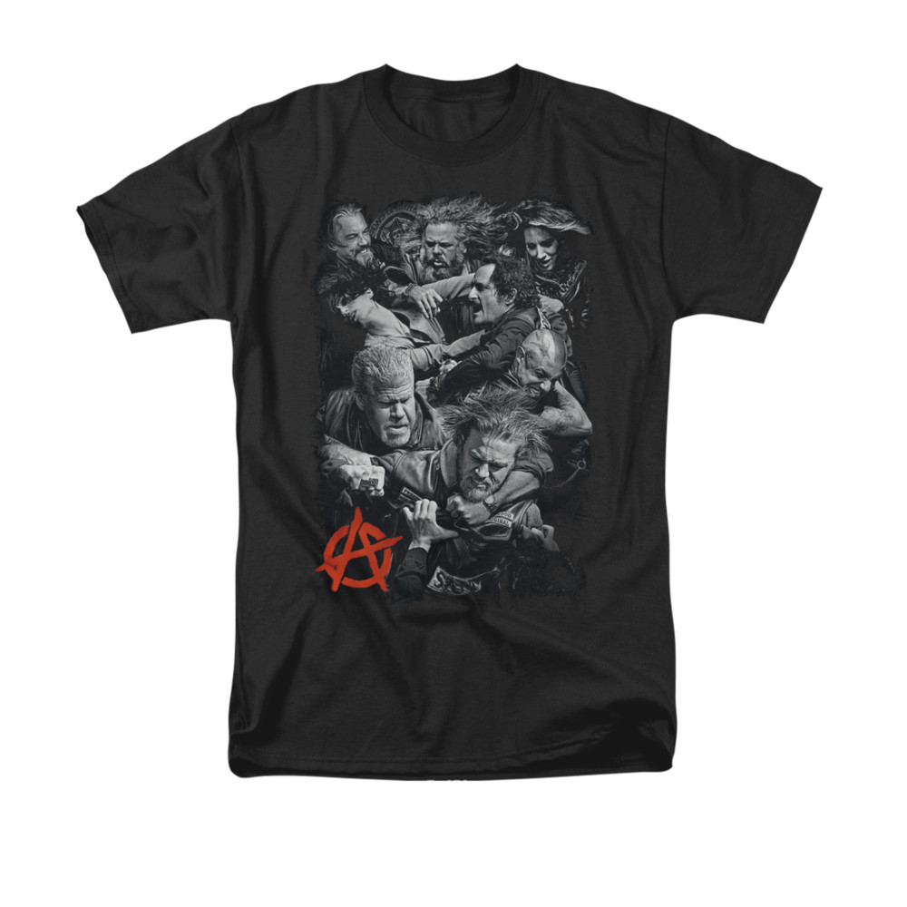 sons of anarchy shirt group fight black t shirt sons of. Black Bedroom Furniture Sets. Home Design Ideas