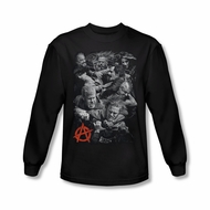 Sons Of Anarchy SOA Shirt Group Fight Long Sleeve Black Tee T-Shirt