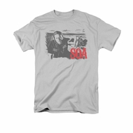 Sons Of Anarchy SOA Shirt Jax Block Adult Silver Tee T-Shirt