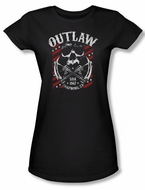 Sons Of Anarchy Shirt Juniors Outlaw Black Tee T-Shirt